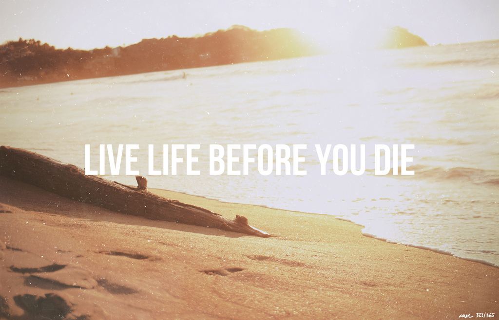 LIVE LIFE BEFORE YOU DIE 1/3 (UK)